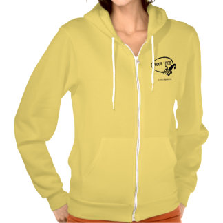 Sudadera con capucha amarilla de encargo de la