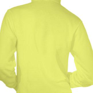Sudadera con capucha amarilla de neón de la roca e