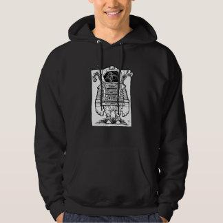 Sudadera con capucha antigua del astronauta