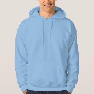 Sudadera con capucha azul clara para hombre -