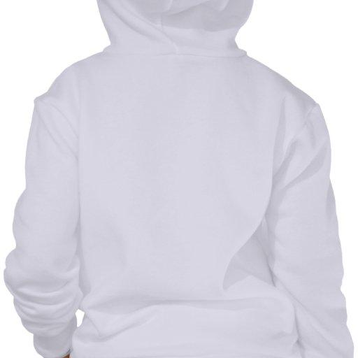 Sudadera con capucha blanca de la cremallera del