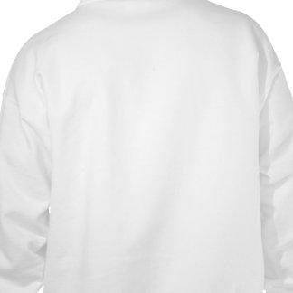Sudadera con capucha blanca del ángel