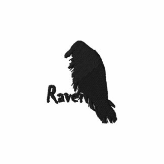 Sudadera con capucha bordada cuervo