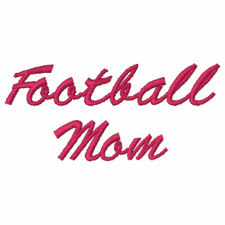 Sudadera con capucha bordada mamá del fútbol