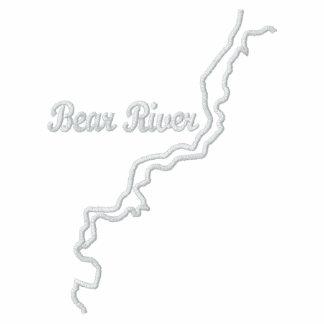 Sudadera con capucha bordada río del oso