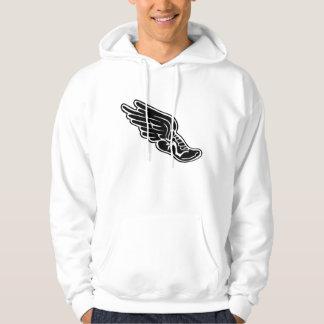 Sudadera con capucha con el logotipo negro de la