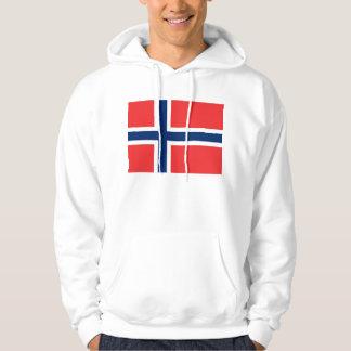 Sudadera con capucha con la bandera de Noruega