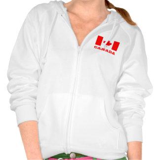 Sudadera con capucha con la hoja de arce canadiens