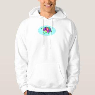 sudadera con capucha con las flores