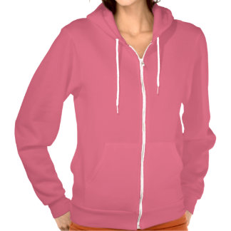 Sudadera con capucha de color rosa oscuro de la