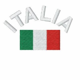 ¡Sudadera con capucha de Italia - Forza Italia! Sudadera Bordada Con Serigrafia