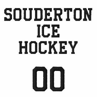 Sudadera con capucha de la cremallera del hockey s