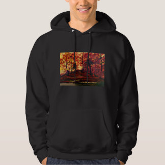 Sudadera con capucha de la hilera de árboles de la