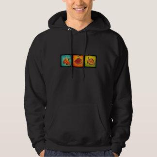 Sudadera con capucha de la hoja del otoño