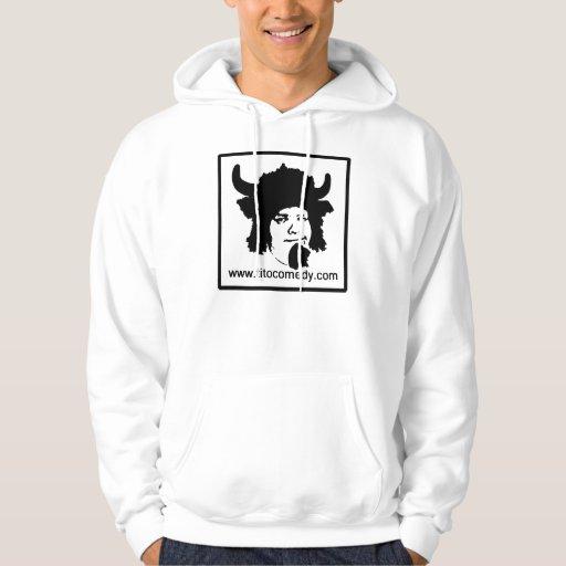 Sudadera con capucha de los cuernos del búfalo de