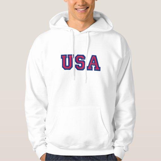 Sudadera con capucha de los E.E.U.U. del equipo