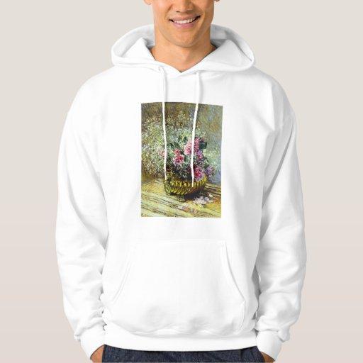 Sudadera con capucha de los rosas de Monet