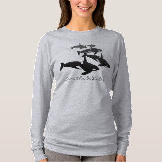 Sudadera con capucha del arte de la ballena de la