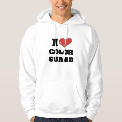 Sudadera con capucha del colorguard del corazón I