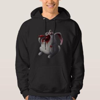Sudadera con capucha del conejito del zombi