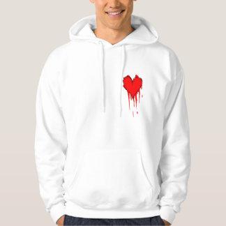 sudadera con capucha del corazón sangrante