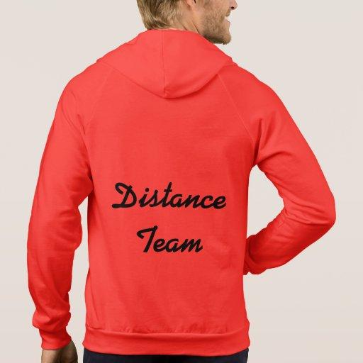 Sudadera con capucha del equipo de la distancia
