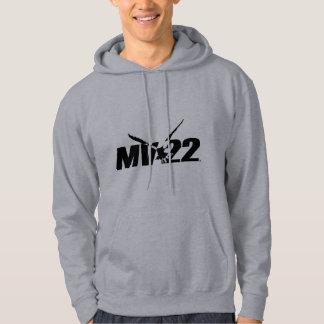 Sudadera con capucha del gris MV-22