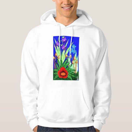 Sudadera con capucha del jardín de flores