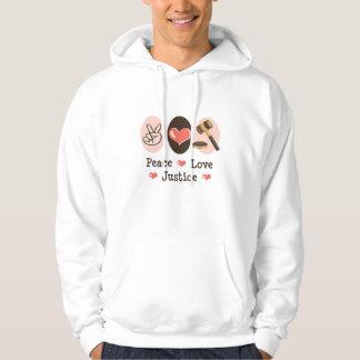 Sudadera con capucha del juez de la justicia del