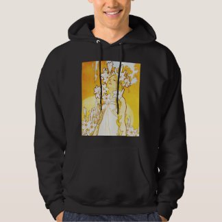 Sudadera con capucha del lirio de Alfonso Mucha