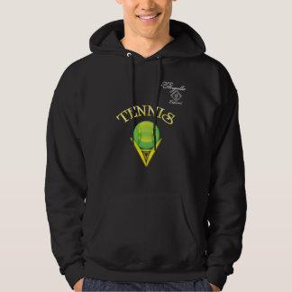 Sudadera con capucha del logotipo del tenis