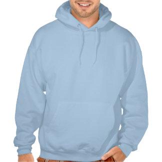 Sudadera con capucha del perro de HAVA, azul clara