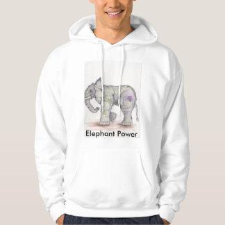 Sudadera con capucha del poder del elefante
