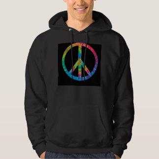 Sudadera con capucha del signo de la paz del