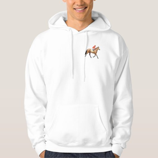 Sudadera con capucha excelente del caballo de raza