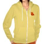 Sudadera con capucha femenina amarilla del Fox de