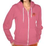 Sudadera con capucha femenina rosada linda de la
