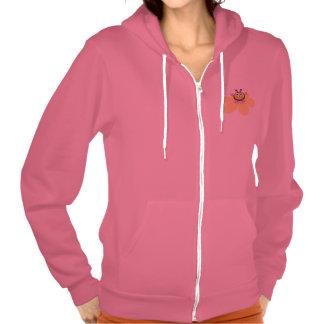 Sudadera con capucha femenina rosada linda de la a