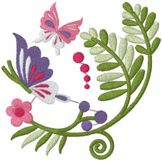 Sudadera con capucha floral de las volutas