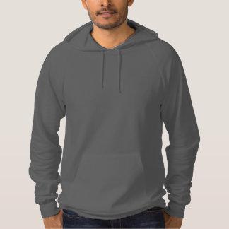 Sudadera con capucha gris llana del jersey del pañ
