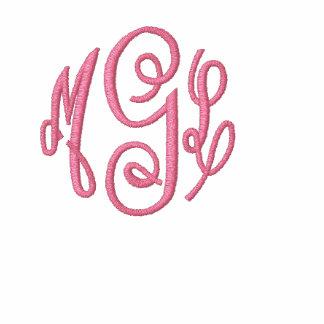Sudadera con capucha inicial del monograma
