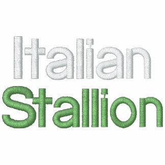 Sudadera con capucha italiana del rojo del sementa