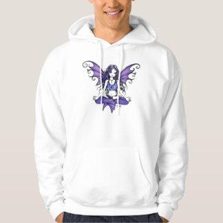Sudadera con capucha linda violeta del Faerie de