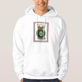 Sudadera con capucha militar del navidad del