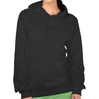 Sudadera con capucha oscura del diseño multicolor