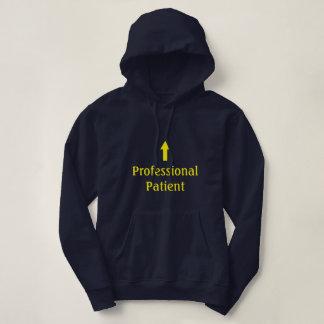 """Sudadera con capucha """"paciente"""" profesional"""