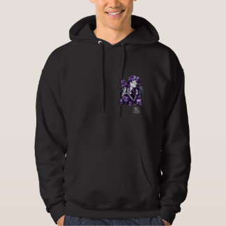 Sudadera con capucha púrpura de la hada del cráneo