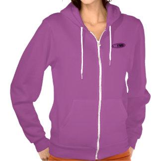 Sudadera con capucha púrpura del tenis para las mu