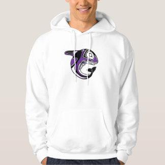 Sudadera con capucha púrpura del tótem de la