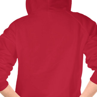 Sudadera con capucha roja de la escritura señoras